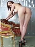 """""""Solana A flaunts her slender body with beautiful tits and meaty butt as she poses by the chair."""""""